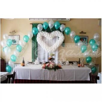 Оформление шарами на свадьбу «Комплект № 30»