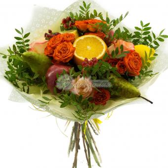 Букет витаминный с цветами