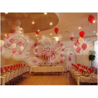 Оформление шарами на свадьбу «Комплект № 1»